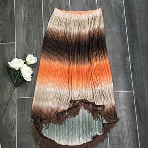 Muse Boston Proper Ombré shimmer pleated skirt